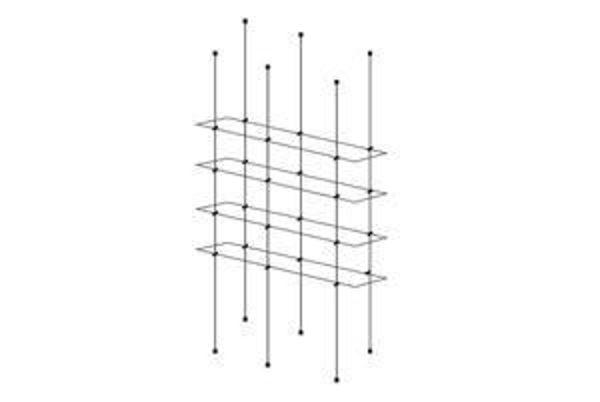 Picture of 1000 x 195 x 5 Quadruple Cable Shelf Window Display kit