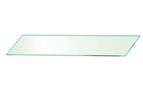 Picture of 1000 x 195 x 5mm Glass Look Acrylic Shelf