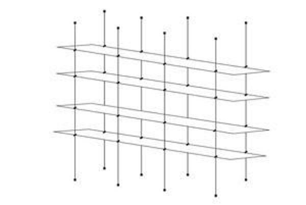 Picture of 1500 x 195 x 5 Quadruple Cable Shelf Window Display Kit