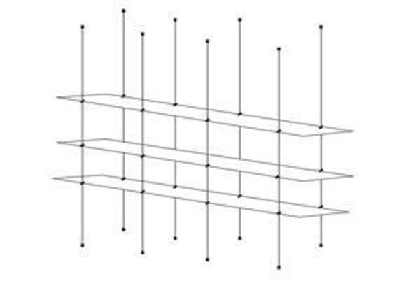 Picture of 1500 x 195 x 5 Tripple Cable Shelf Window Display Kit