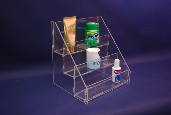 Picture of 3 Tier Flat Packed Clear Acrylic Stand