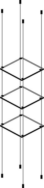 Picture of 3 x 280 x 280 x 6mm Cable Shelf Window Display Kit