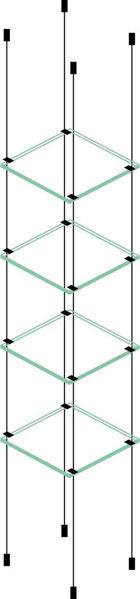 Picture of 4 x 280 x 280 x 6mm Cable Shelf Window Display Kit Glass Look