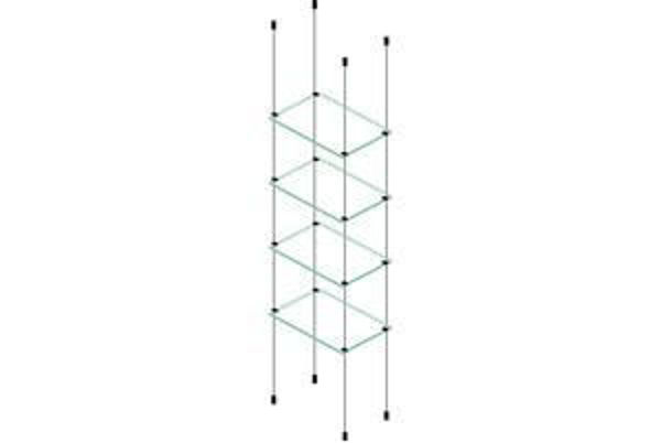 Picture of 4 x 595 x 280 x 6mm Cable Shelf Window Display Glass Look