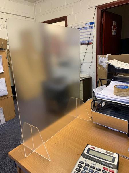 Picture of 500mm Office Desk Screen Anti-glare