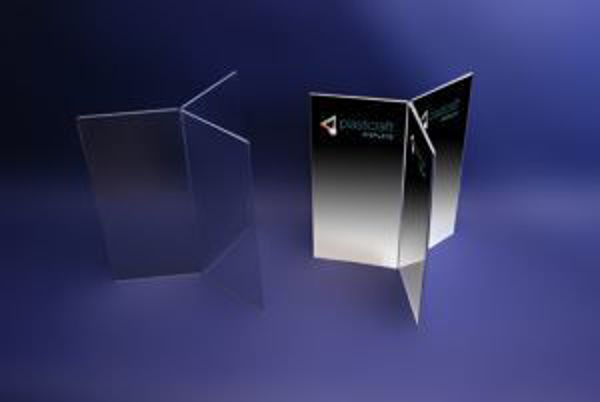 Picture of 6 Sided 1/3 A4 Freestanding Menu Holder