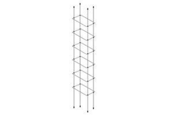 Picture of 6 x 300 x 150 x 4mm Cable Shelf Window Display Kit
