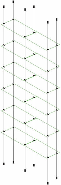 Picture of 6 x Double Glass Effect 300 x 150 x 4mm Cable Shelf Window Display kit