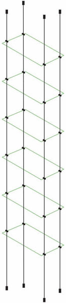 Picture of 6 x Glass Effect 300 x 150 x 4mm Cable Shelf Window Display Kit