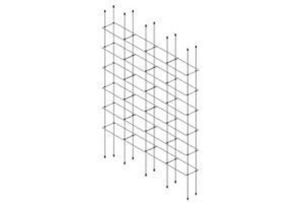 Picture of 6 x Quadruple 300 x 150 x 4mm Cable Shelf Window Display Kit
