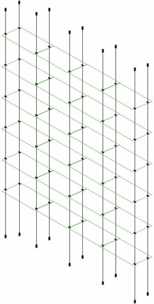 Picture of 6 x Quadruple Glass Effect 300 x 150 x 4mm Cable Shelf Window Display Kit