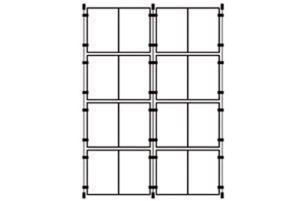 Picture of 8 x Double A4 Portrait Cable Pocket Display Kit