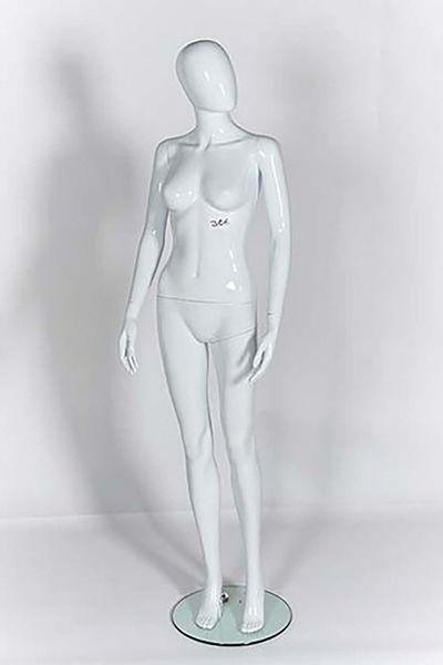 Picture of Full Body female Mannequin - Gloss White - egg Head - window display (R306)