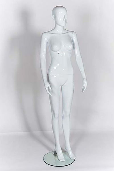 Picture of Full Body female Mannequin -Gloss White -window display - (R311)