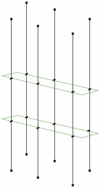 Picture of Glass Effect 1000 x 195 x 5 Double Cable Shelf Window Display Kit