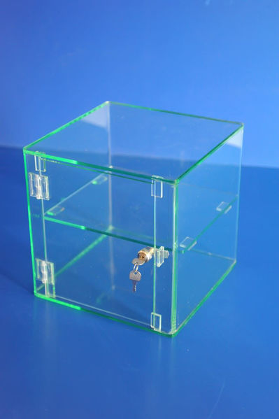 Picture of Glass Effect Lockable Display Cabinet 300 x 300 x 300