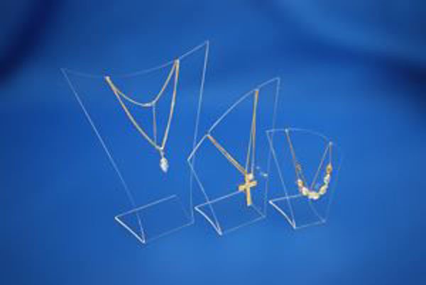 Picture of Set of 3 Clear Necklace Display Stands/Busts