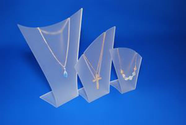 Picture of Set of 3 Frosted Necklace Display Stands/Busts