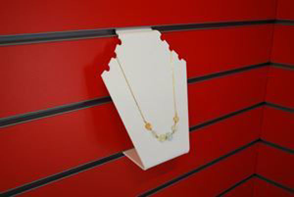 Picture of White Slatwall Necklace Display