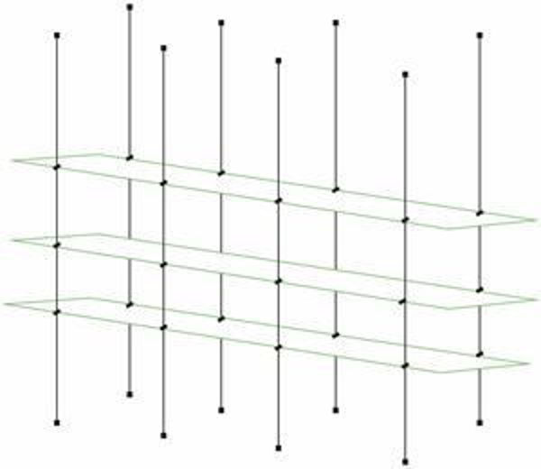 Picture of Glass Effect 1500 x 195 x 5 Tripple Cable Shelf Window Display Kit